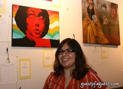 jessica perilla in LWALA artist auction event
