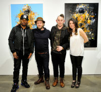 L-R: Artist Knowledge Bennett, Joseph Gross, artist MR Herget and Lynzy Blair attend the