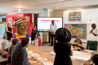 Belvedere Celebrates (RED) and Partnership with South African Artist, Esther Mahlangu at the Dusable Museum in Chicago #117