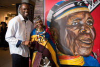 Belvedere Celebrates (RED) and Partnership with South African Artist, Esther Mahlangu at the Dusable Museum in Chicago #127