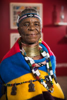 Belvedere Celebrates (RED) and Partnership with South African Artist, Esther Mahlangu at the Dusable Museum in Chicago #152