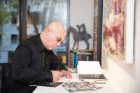 Bernie Taupin Debuts ANTIPHONA Exhibit at Waterhouse & Dodd in New York #26