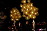 "MARTINI ""LET'S GO"" SPLASHING THE NYC SKY WITH GOLD BALLOONS #14"