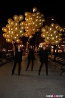 "MARTINI ""LET'S GO"" SPLASHING THE NYC SKY WITH GOLD BALLOONS #38"