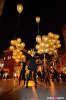 "MARTINI ""LET'S GO"" SPLASHING THE NYC SKY WITH GOLD BALLOONS #65"