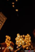 "MARTINI ""LET'S GO"" SPLASHING THE NYC SKY WITH GOLD BALLOONS #66"