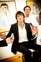 "The Rolling Stones' Ronnie Wood art exhibition ""Faces, Time and Places"" at Symbolic Gallery #66"