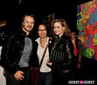 Ryan McGinness - Women: Blacklight Paintings and Sculptures Exhibition Opening #42