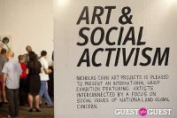 Art and Social Activism Exhibition Opening #138