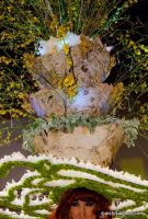 Fountain of flowers worn by Empress 23 Anne Tique of the Imperial court of New York