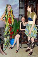 Model: Irina Romashevskaya(center); Designer: Andrey Oshlykov