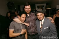 Chocolate Bar GM Jack Woodhull headlocks Workhouse Publicity CEO Adam Nelson while FSC Shorty Maniac looks dapper