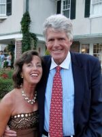 Jeanette Obser, Quogue Village Trustee and his honor, Mayor of Quogue George Motz