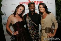Justine McCarthy (Simply Chic), Malcolm Harris (Designers for Darfur Founder) and Sabrina Chapman (Simply Chic)