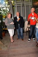 Linda Rutherford, Tom Colicchio, and Robert Verdi at the Porch