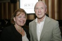 Susan McLean, Executive Director of Literacy Partners and Mr. Peter Brown, Board Chairman