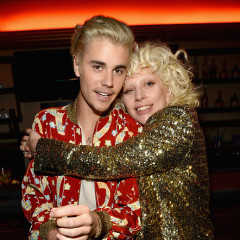 Lady Gaga & Justin Bieber Catch The Saint Laurent Show In L.A.