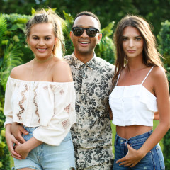 Chrissy Teigen, John Legend & Emily Ratajkowski Party In The Hamptons With REVOLVE