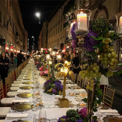 Inside Dolce & Gabbana's 400-Person Dinner Party In The Streets Of Milan