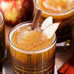 The Boozy Apple Cider Slushie You'll Be Drinking All Autumn Long