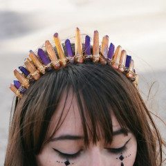 Sorry Flowers, Crystal Crowns Are Summer's Bohemian Must-Have