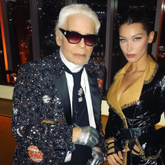 Mariah Carey & Bella Hadid Help Honor Karl Lagerfeld At Intimate V Magazine Dinner