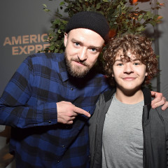 Justin Timberlake Hosted An Exclusive Listening Party With Your Favorite 'Stranger Things' Star