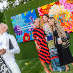 Kelly Ripa & Sarah Jessica Parker Toast The Fabulous Art Of Ashley Longshore Out East