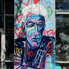A New Mural Honoring Anthony Bourdain Debuts On The Lower East Side