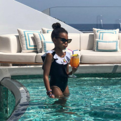 Blue Ivy Sipping A Tropical Drink In A Pool On A Yacht Is Everything You Wish You Were