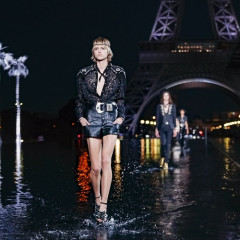 Models Walked On Water For Saint Laurent's SS19 Show In Paris