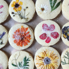 These Flower Pressed Cookies Are Almost Too Pretty To Eat!