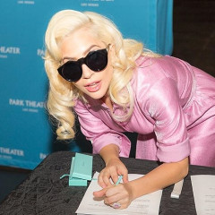 Lady Gaga Supports California Wildfire Victims At A Red Cross Shelter