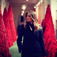 The White House Holiday Decorations Are Back & Just As Terrifying As Ever