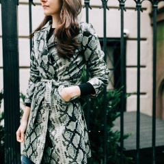 You 100% Need This Snakeskin Trench Coat