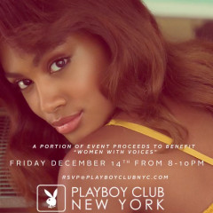 Playboy Celebrates Dec. Playmate & Bunny, Event Benefiting Women with Voices