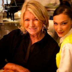 Did Martha Stewart & Bella Hadid Just Have Dinner Together?