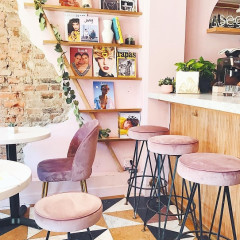 This Pink Bar & Cafe Is Already The Fashion Set's Favorite New Hang
