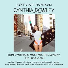 Yoga | Shop | Sip @ Cynthia Rowley - Memorial Day Weekend Celebration