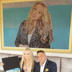 Tiffany Trump Gets A Portrait Made Completely Out Of Swarovski Crystals