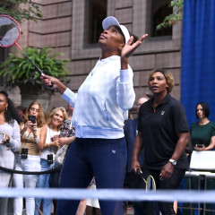 Venus, Serena & Rafa Nadal Celebrate The U.S. Open With Badminton At The New York Palace