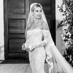 Hailey Bieber Has FINALLY Revealed Her Wedding Dress (& Epic Veil)