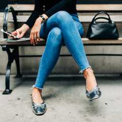 These Metallic Flats Are The Easiest Way To Look Effortlessly Cool This Fall