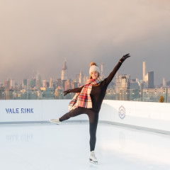 A Rooftop Ice Skating Rink (With The BEST View) Just Opened In Williamsburg