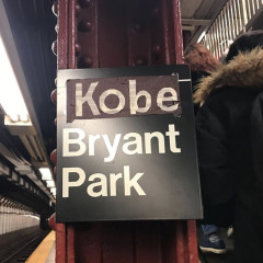 New Yorkers Pay Tribute To Kobe Bryant At The Bryant Park Subway Station