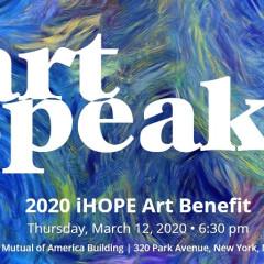 You're Invited: Art Speaks iHOPE Benefit 2020
