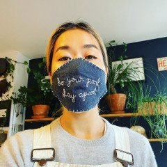 Make 100 Masks & Lingua Franca Will Gift You A Free Cashmere Sweater!