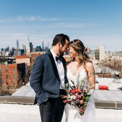 This Brooklyn Couple's Impromptu Rooftop Wedding In Quarantine Was Magical