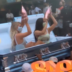 Bottle Girls Pop Out Of Coffins As Clubs Reopen In L.A.