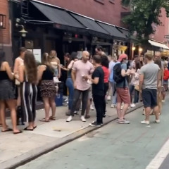 Mask-Free Crowds Of Revelers Have Taken Over The West Village & Seriously People?